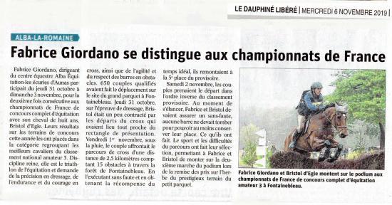 Article dl championnats de france 2019