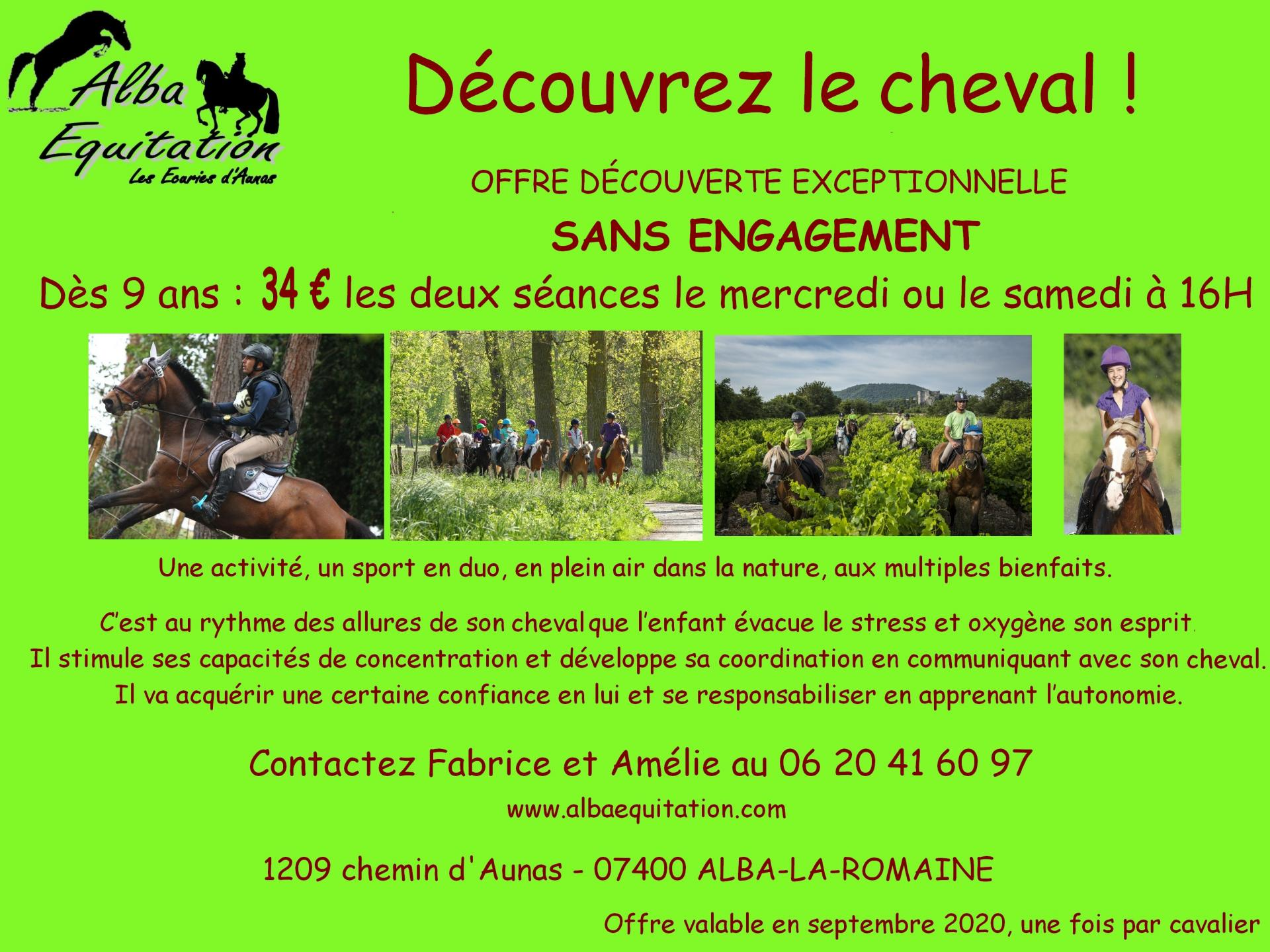 Offre cheval rentree