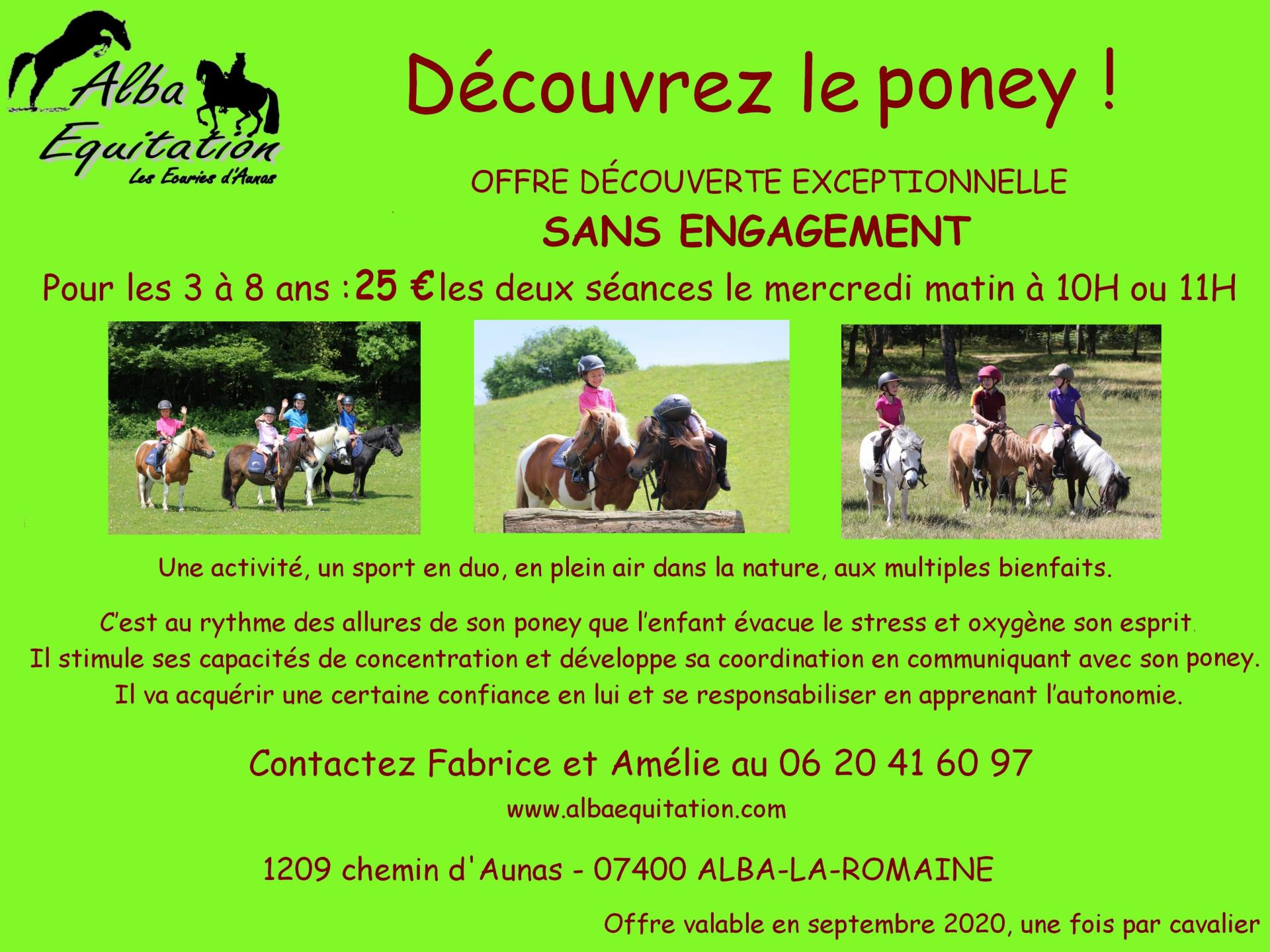 Offre poney rentree